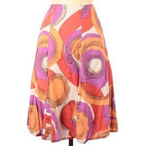 Jacqui E Multi-color Print Skirt Size 14
